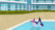 S1 E14 Wipeout lands in the pool