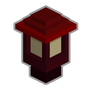 File:Wooden garden lantern red.png