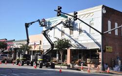 Downtown Hawkins Filming Preparations