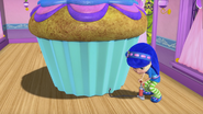 Blueberry and her inflatable cupcake