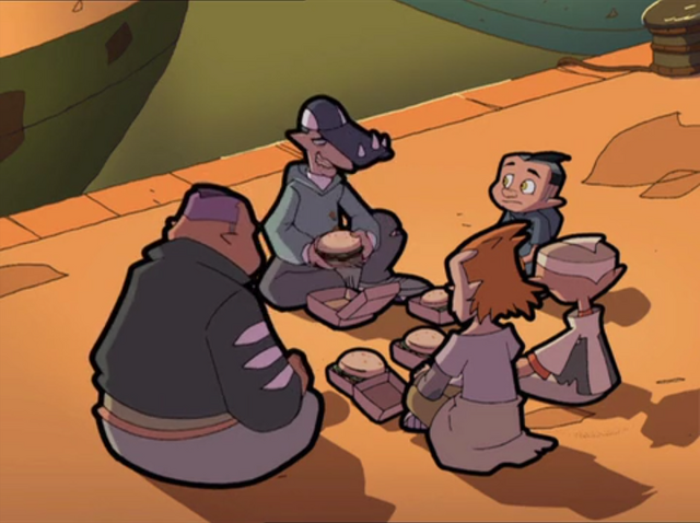 File:Bay Sharks having Hamburgers (Black Night for a Red Card) 2.png