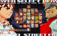 Street Fighter Zero 3 Saturn Select Screen