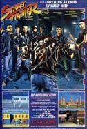 Street Fighter arcade game flyer USA