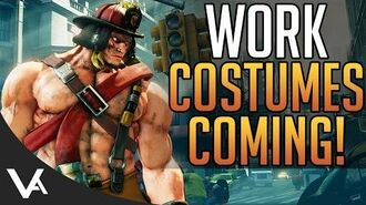 SFV - New Work Costumes Revealed! Artwork, Price & Release Date For Street Fighter 5