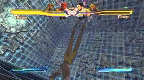 Dhalsim's Super Art and Cross Assault in Street Fighter X Tekken