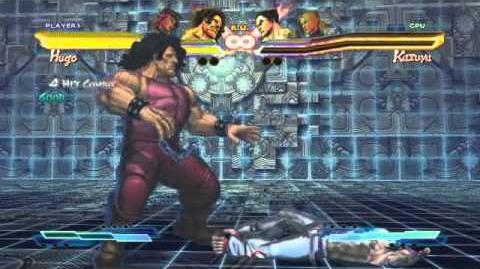 Hugo's Super Art and Cross Assault in Street Fighter X Tekken