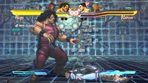 Hugo's Super Art and Cross Assault in Street Fighter X Tekken