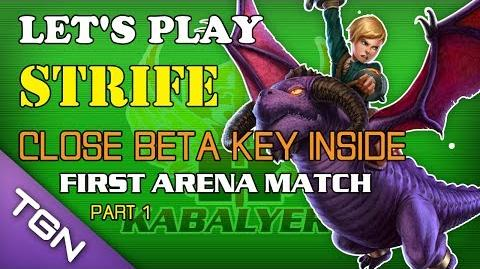 Let's Play Strife - Close Beta Key Inside (Claimed) - First Arena Match (Part 1)