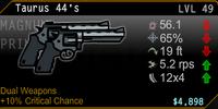 Taurus 44's Dual Wield Magnum