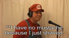 Stupid Mario Brothers Chocolate Rain Parody I have no mustache because I just shaved