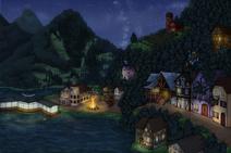 Map vetalake night bonfire