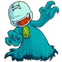 Ghostly aqua