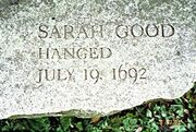 Salem Witch Trials Memorial Sarah Good