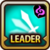 Leader Skill Attack Speed (Low) Dark Icon