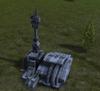 Black sun control tower
