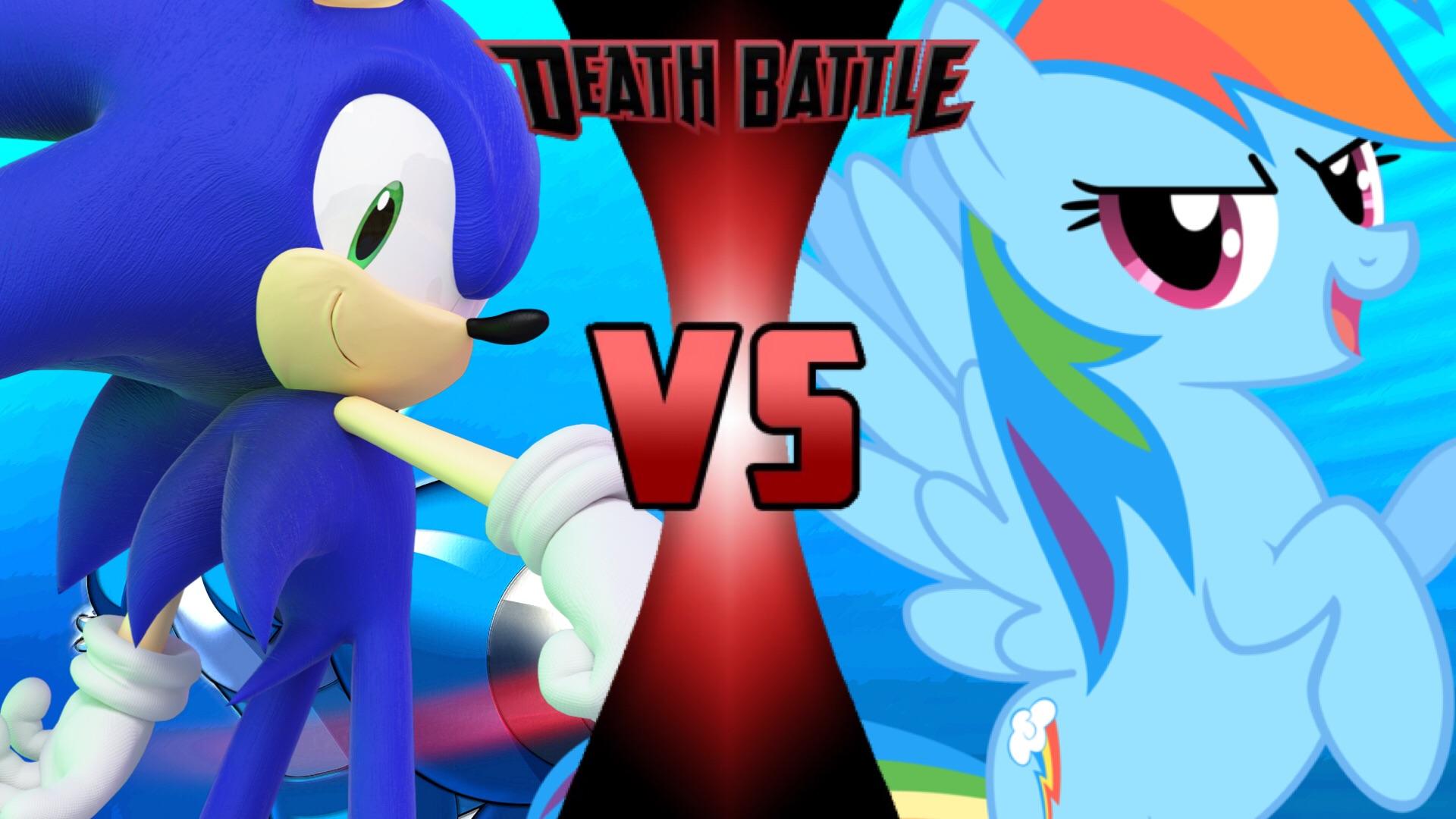 Death Battle Sonic Vs Rainbow Dash By Sturk Fontaine On DeviantArt