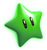 Green Star Artwork - Super Mario 3D World