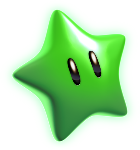 File:Green Star Artwork - Super Mario 3D World.png