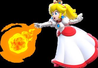 Fire Princess Peach Artwork - Super Mario 3D World