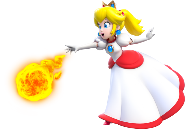 File:Fire Princess Peach Artwork - Super Mario 3D World.png