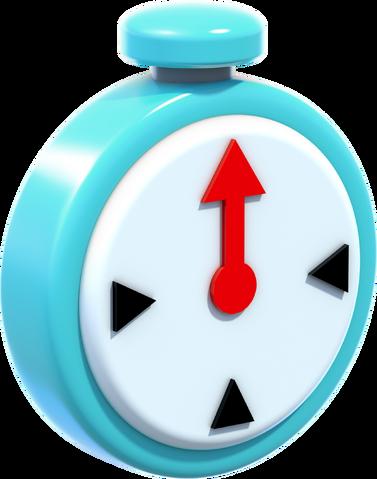 File:Blue Clock Artwork - Super Mario 3D World.png