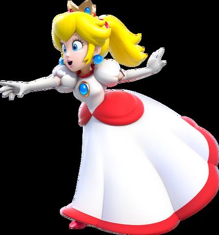 File:Fire Princess Peach Artwork (alt) - Super Mario 3D World.png