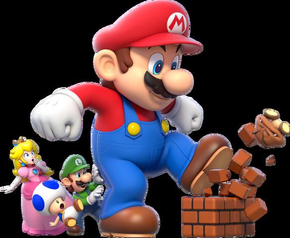 File:Mega Mario Group Artwork - Super Mario 3D World.png