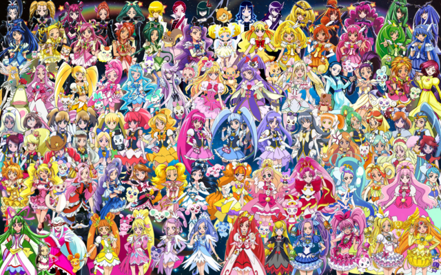 File:93 Pretty Cure Warriors with Fairies.png