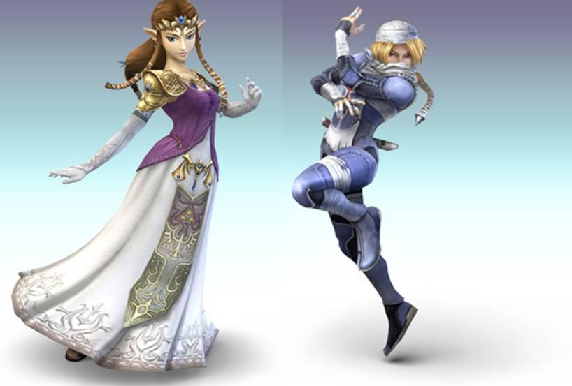 Sheik And Zelda Super Smash Bros