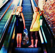 Free Mall Girls Riding on The Escalator Creative Commons