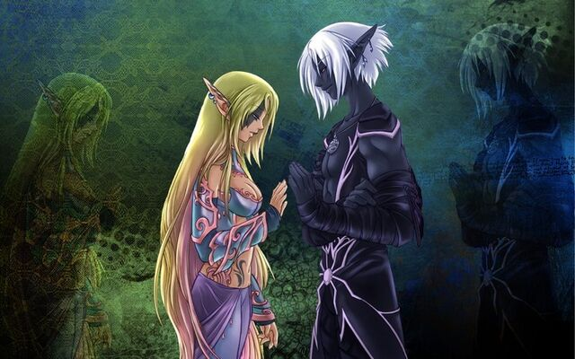 File:The Elf and the Drow by Faye Faye.jpg