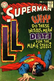 Superman 204 LL initials