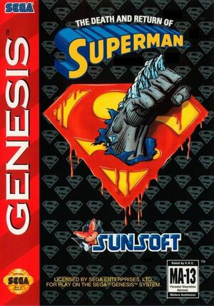 The Death and Return of Superman box