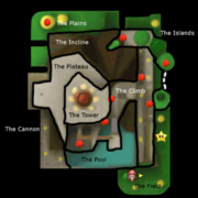 SM64DS Whomp's Fortress Red Coins Map