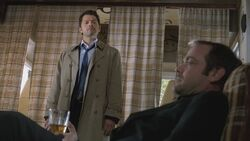 Castiel finds Crowley