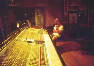 Gary Recording At Air Studios Montserrat 1988