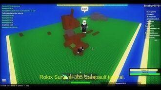Roblox Survival 303 Catapault Tutorial