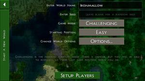 New World screen