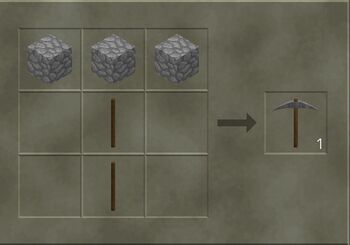 Stone Pickaxe craft