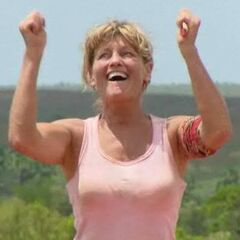 Sandy is happy because she overcame the first impression vote.