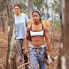 Alicia at Kucha camp.