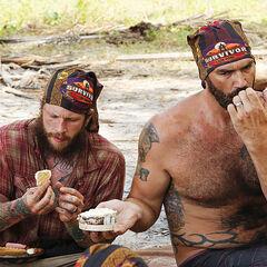 Jason and Scot feast.