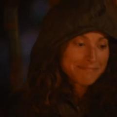 Jerri's evil smile after Alicia's elimination.