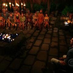 Murlonio at Tribal Council.