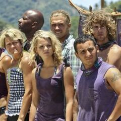 Bikal, looking towards the Gota tribe before the Reward/Immunity Challenge in Episode 2.