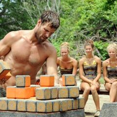Mike competing in the challenge.