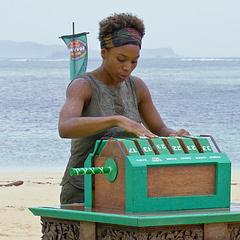 Tasha at the 6th Individual Immunity Challenge of the season, <a href=