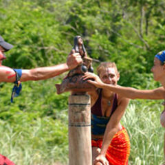 Jenna at the Final Immunity Challenge with <a href=