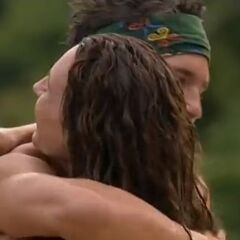 Jerri hugs Colby after joining <a href=