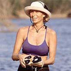 Tina in the lake.